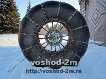 Мощное колесо караката ведехода переднее