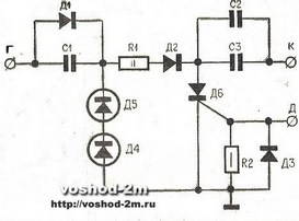 схема электронного коммутатора