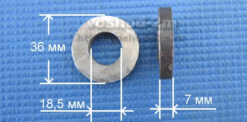 размеры шайб для вилки вездехода