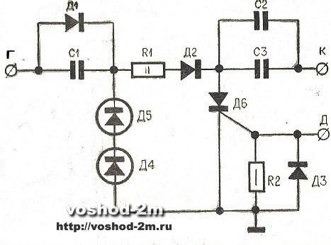 Принципиальная схема электронного коммутатора